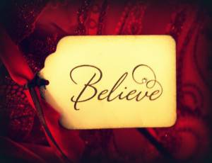Believe Gift Label