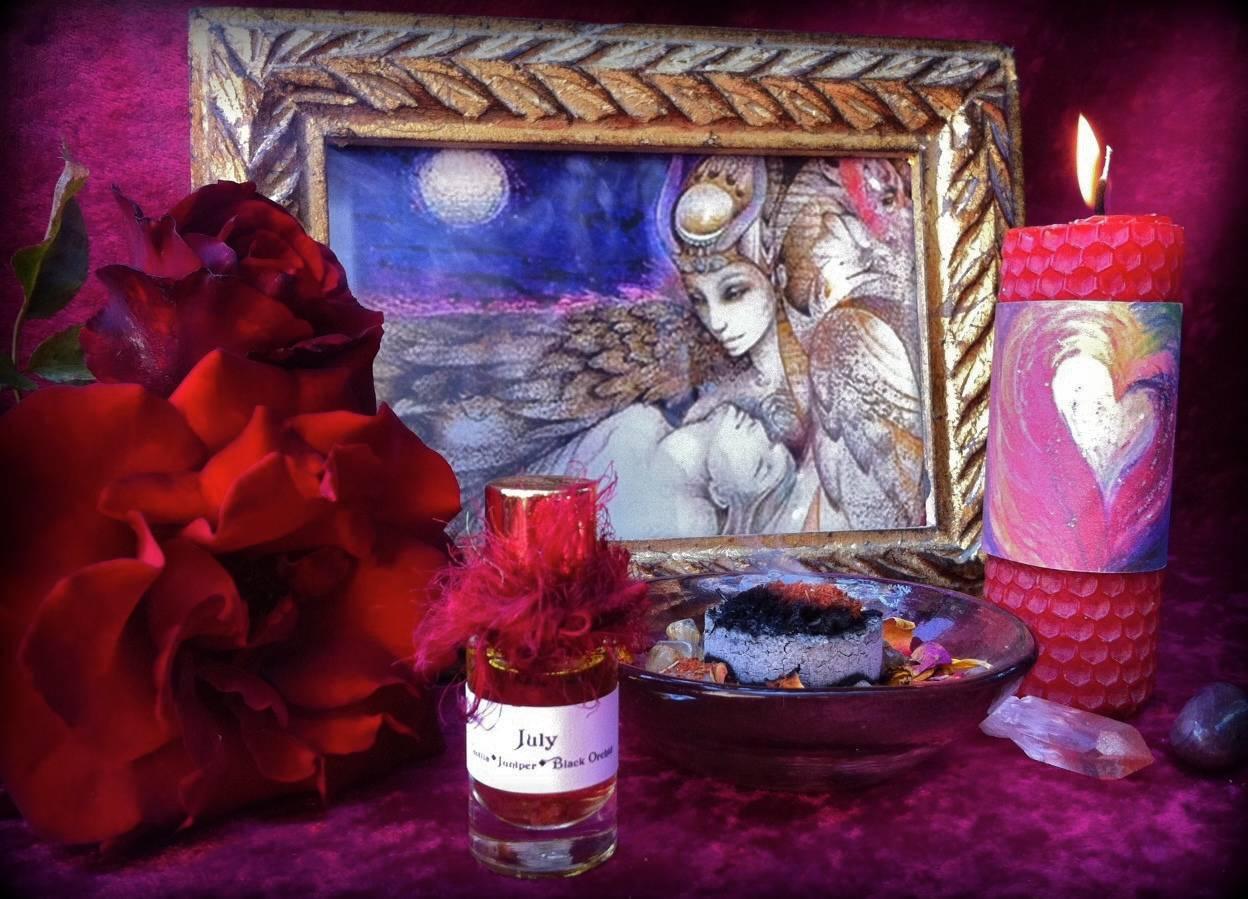 Preparing sacred space for love magic