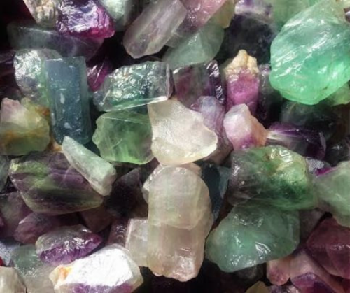 Natural Fluorite Set of 4 for revealing your soul's intended path