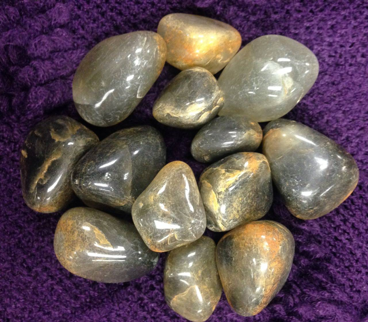Tumbled Chlorite Quartz for money & healing magic