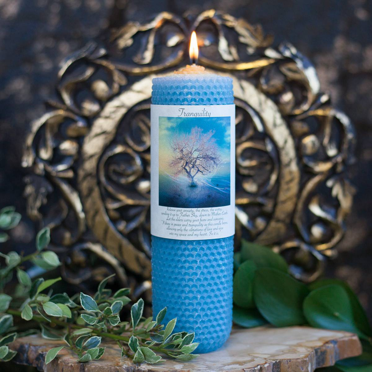 Tranquility Peace Rolled Candle 2_16
