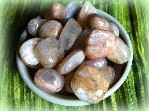 Tumbled Moonstone - The Goddess Stone - moon magic