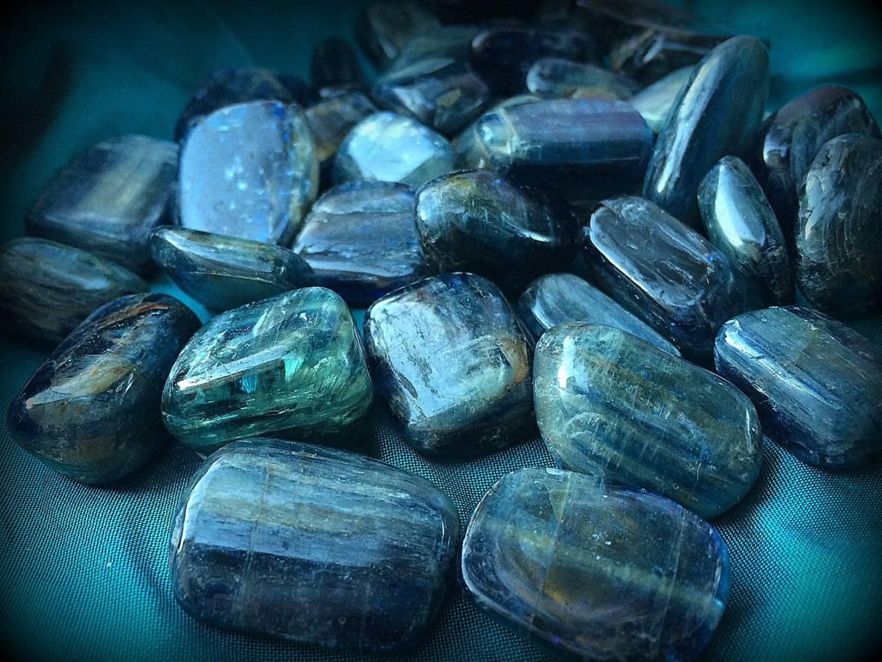 Tumbled Premium Blue Kyanite - The Centering Stone for Alignment & Balance