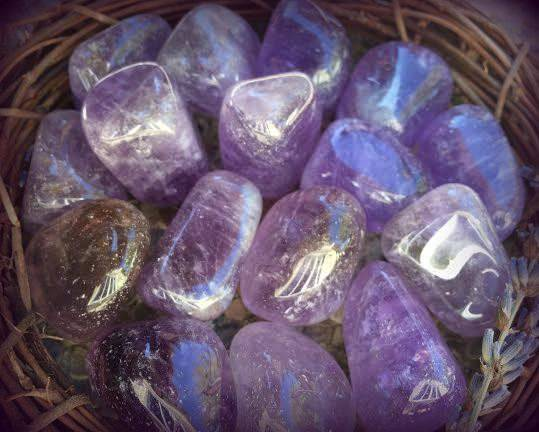 Premium Tumbled Amethyst - The Boundary Stone for creating peace
