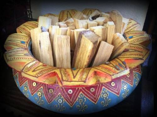 Palo Santo smudge stick for clearing illness or negativity