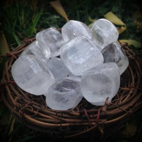 Tumbled Optical Clear Calcite - The Amplification & Visioning Stone for clear sight