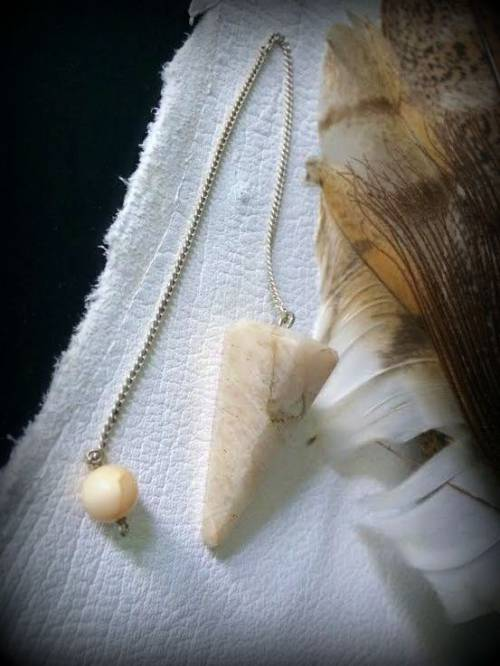 Large Moonstone pendulum for energy work