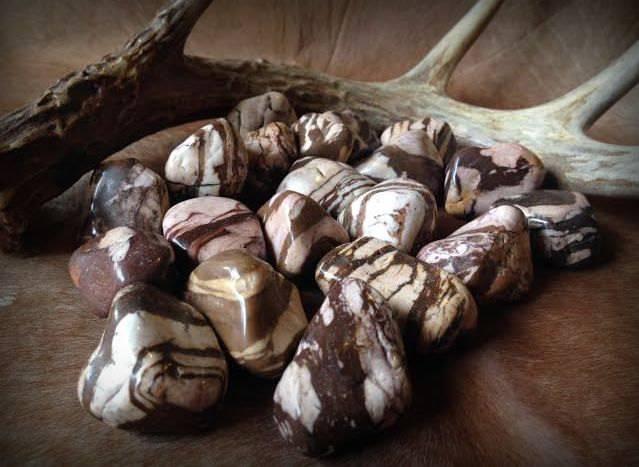 Transformational Brown Zebra Jasper tumbled gems - Transforming ideas to action