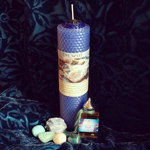 The West Directional Ritual Set: Candle