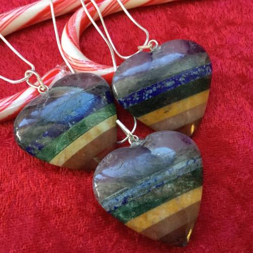 BF-Rainbow Heart Pendant
