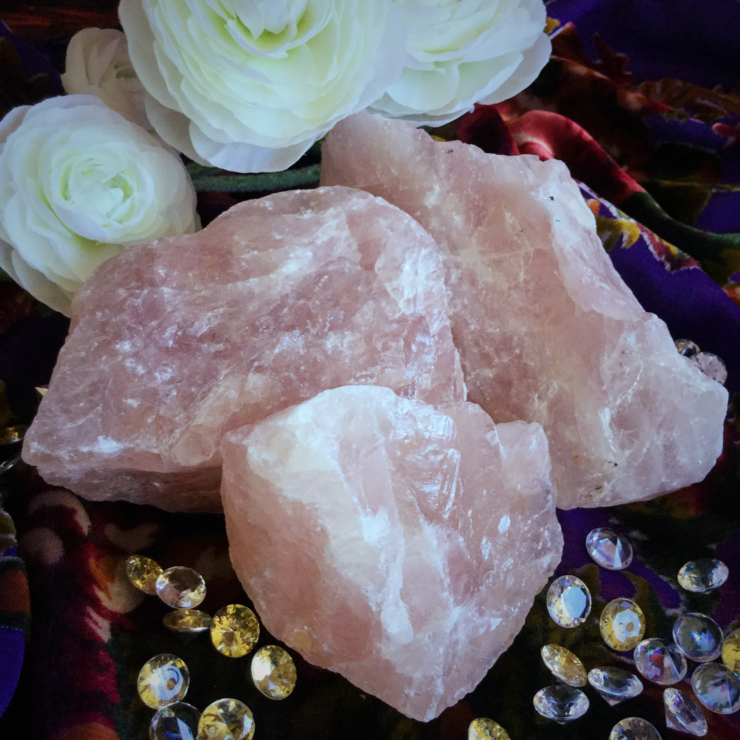 Is quartz considered a natural stone - Huge Natural Rose Quartz Crystals For An Abundance Of Love Energies Sage Goddess