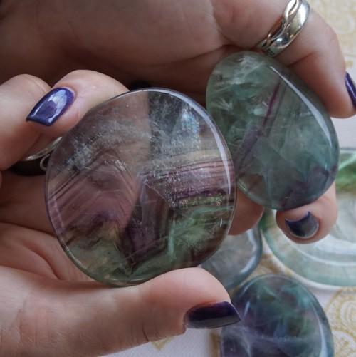 fluorite worry stones