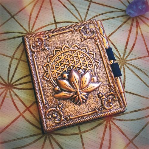 metallic flower of life memo pad