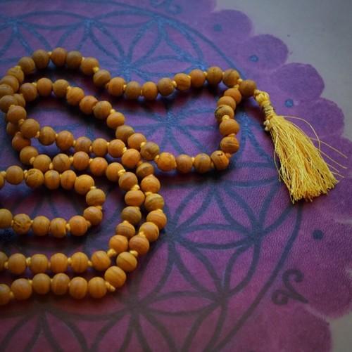 turmeric mala bead necklaces