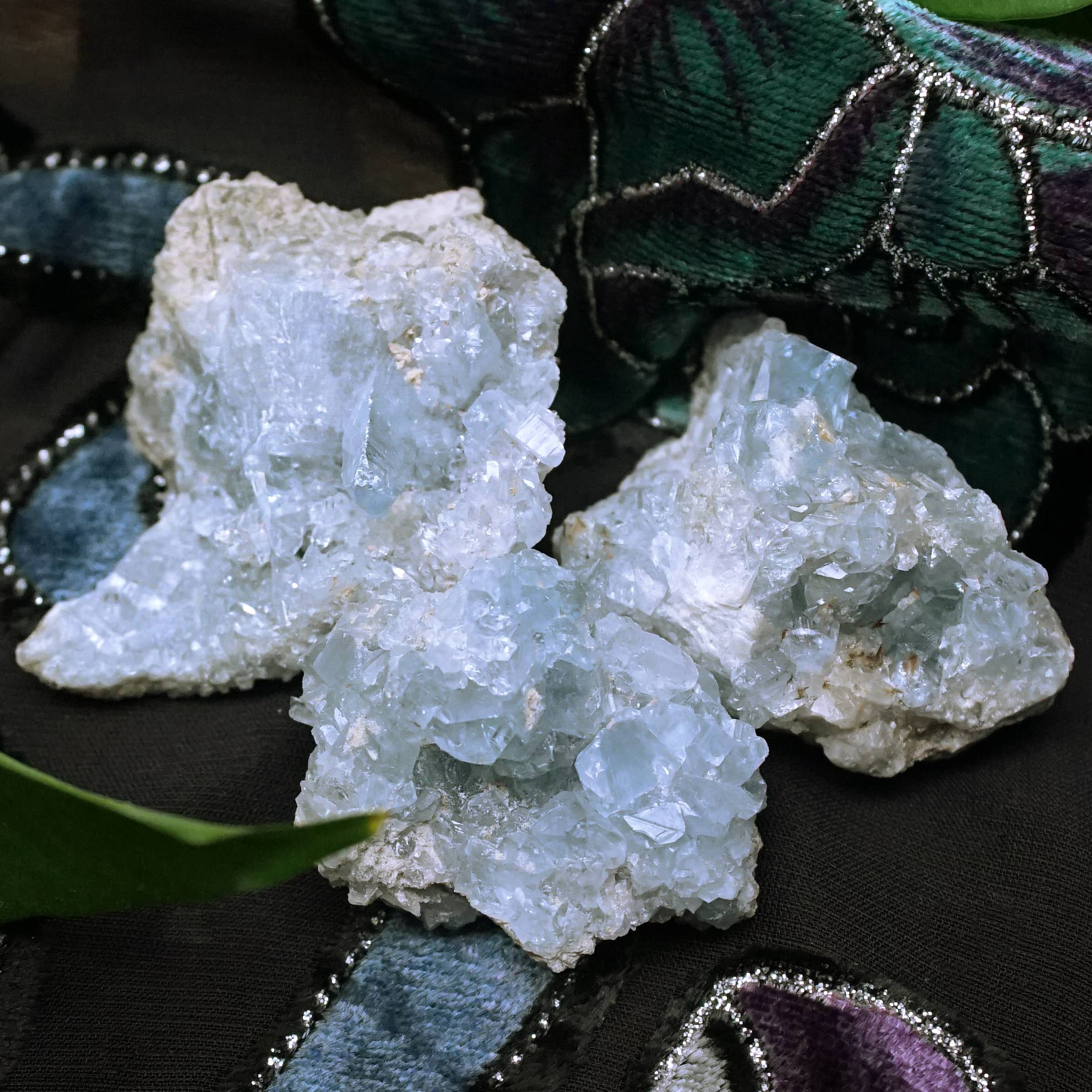 natural celestite chunks