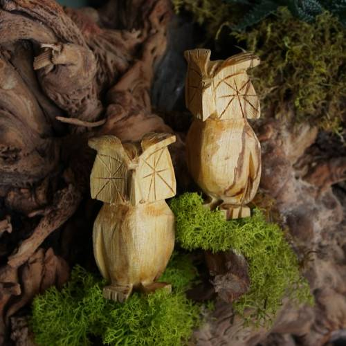 palo santo owls wood carvings