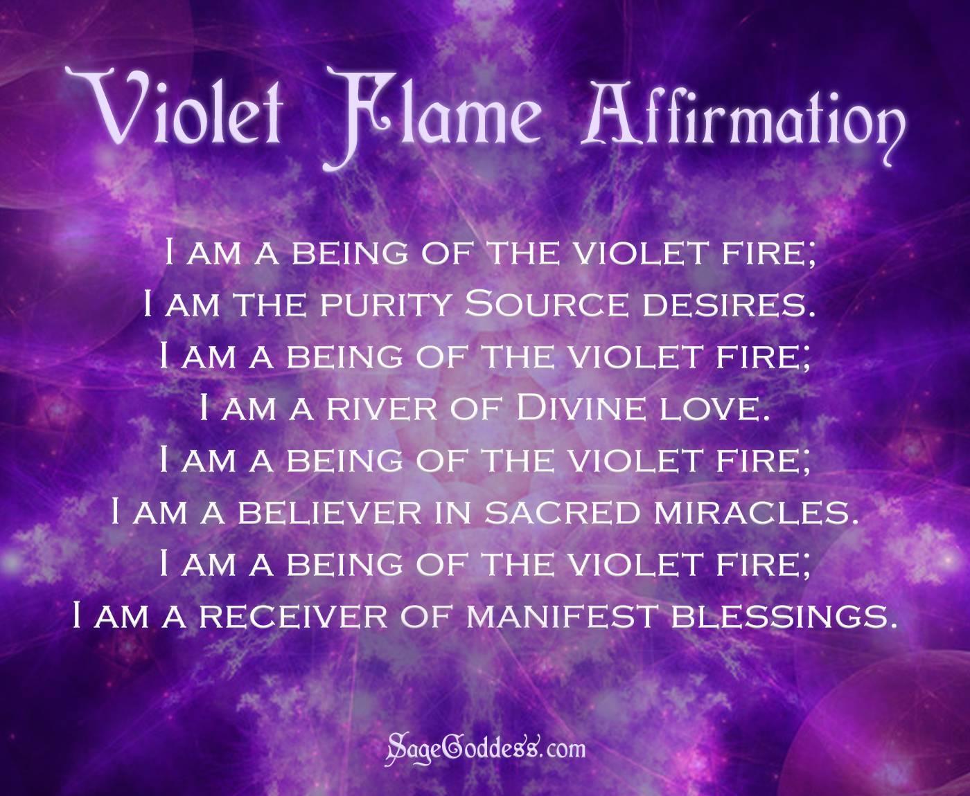 Violet Flame Affirmation