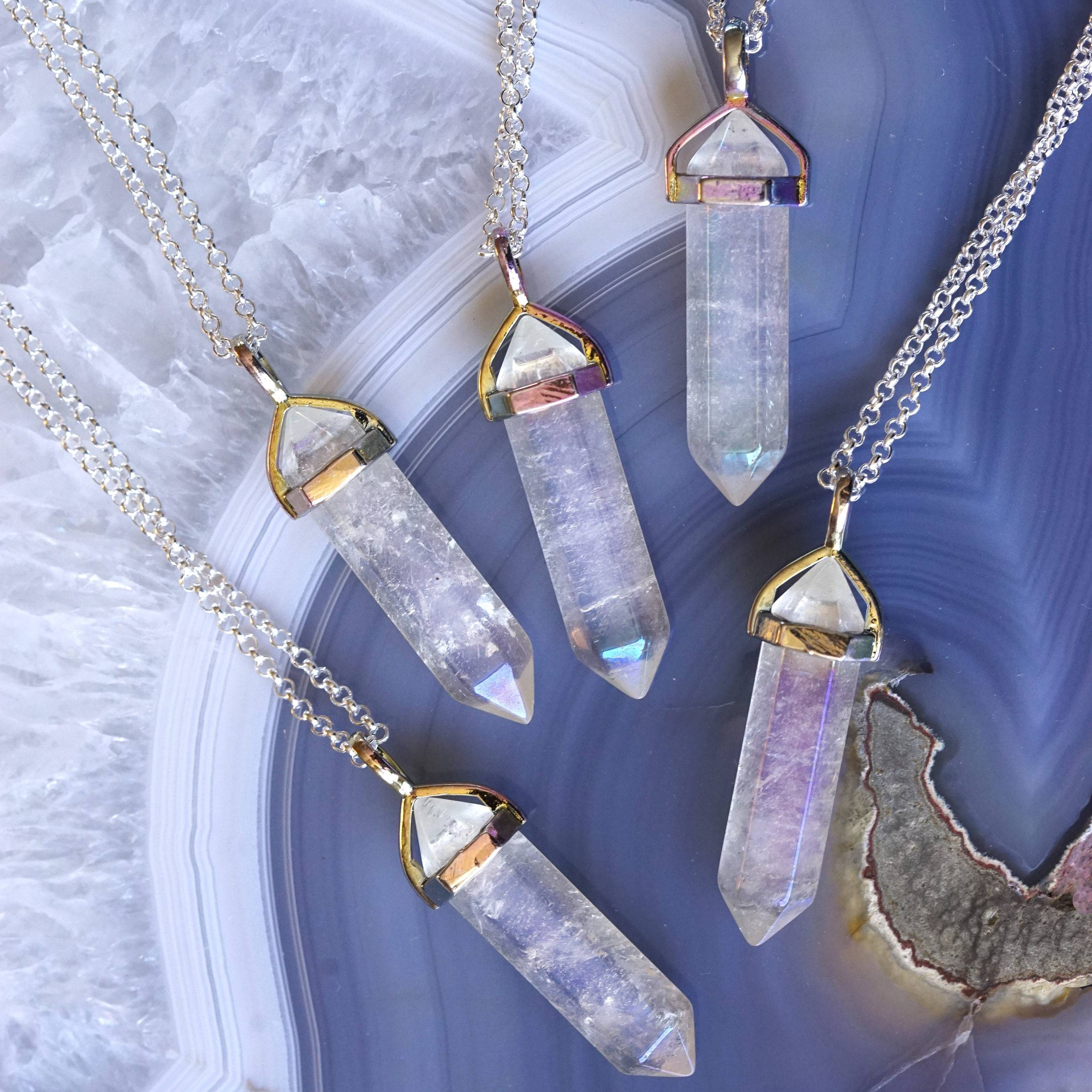 Angel aura quartz pendants to connect your spirit to the higher realms angel aura quartz pendants mozeypictures Image collections