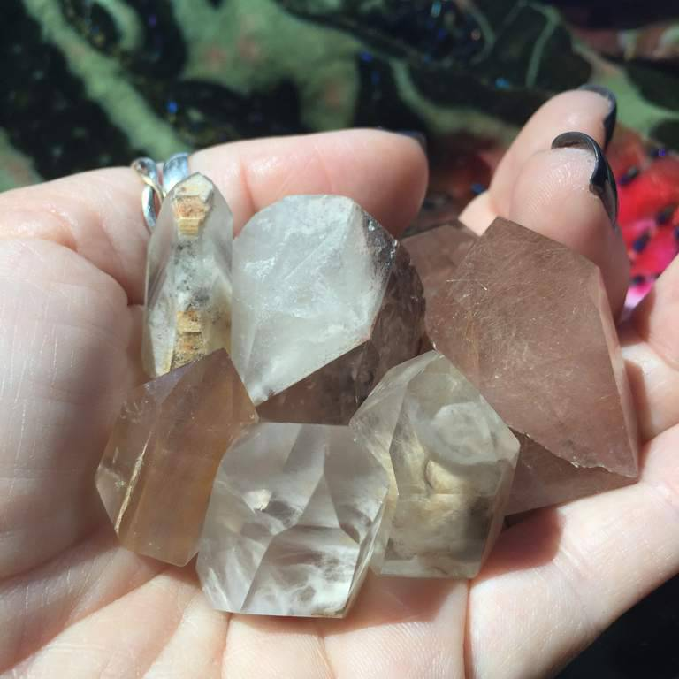Rare Inclusion Quartz Generators with phantoms, and record keepers