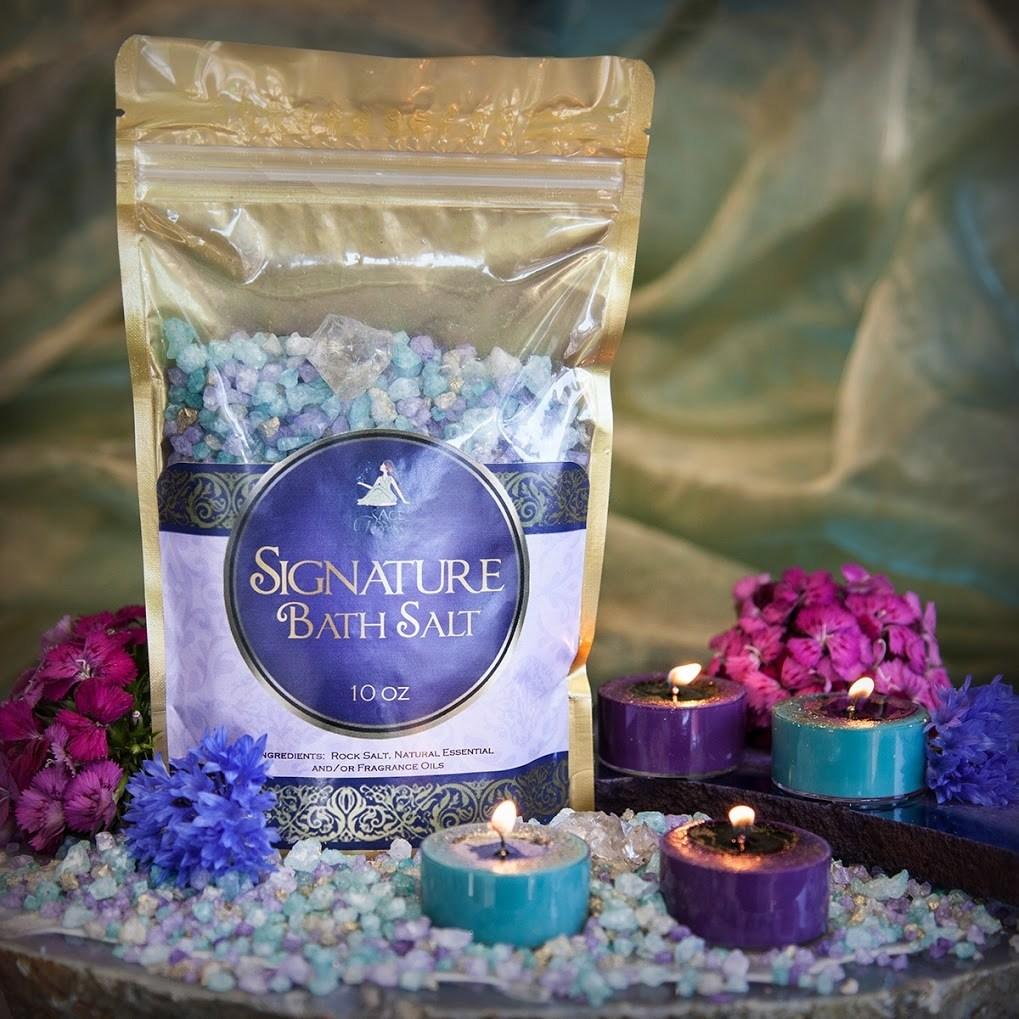 SG Signature Bath Salts with Tea Lights for reawakening