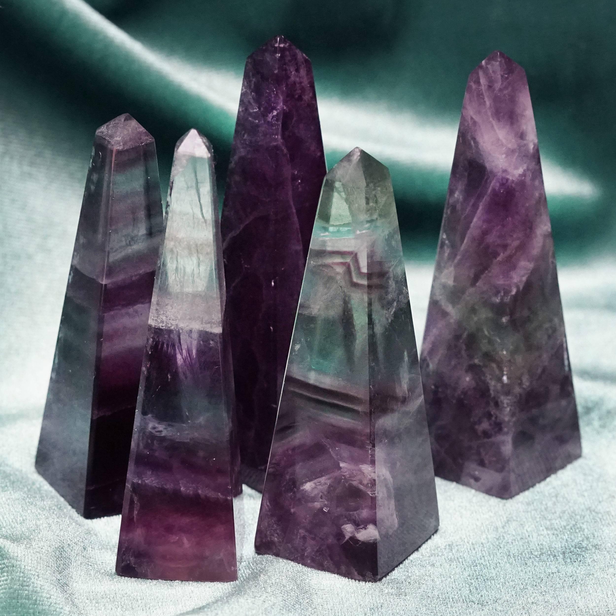 fluorite obelisks