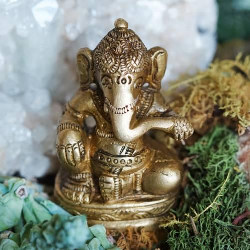 brass ganesha statue