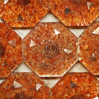 orgonite chargign plate