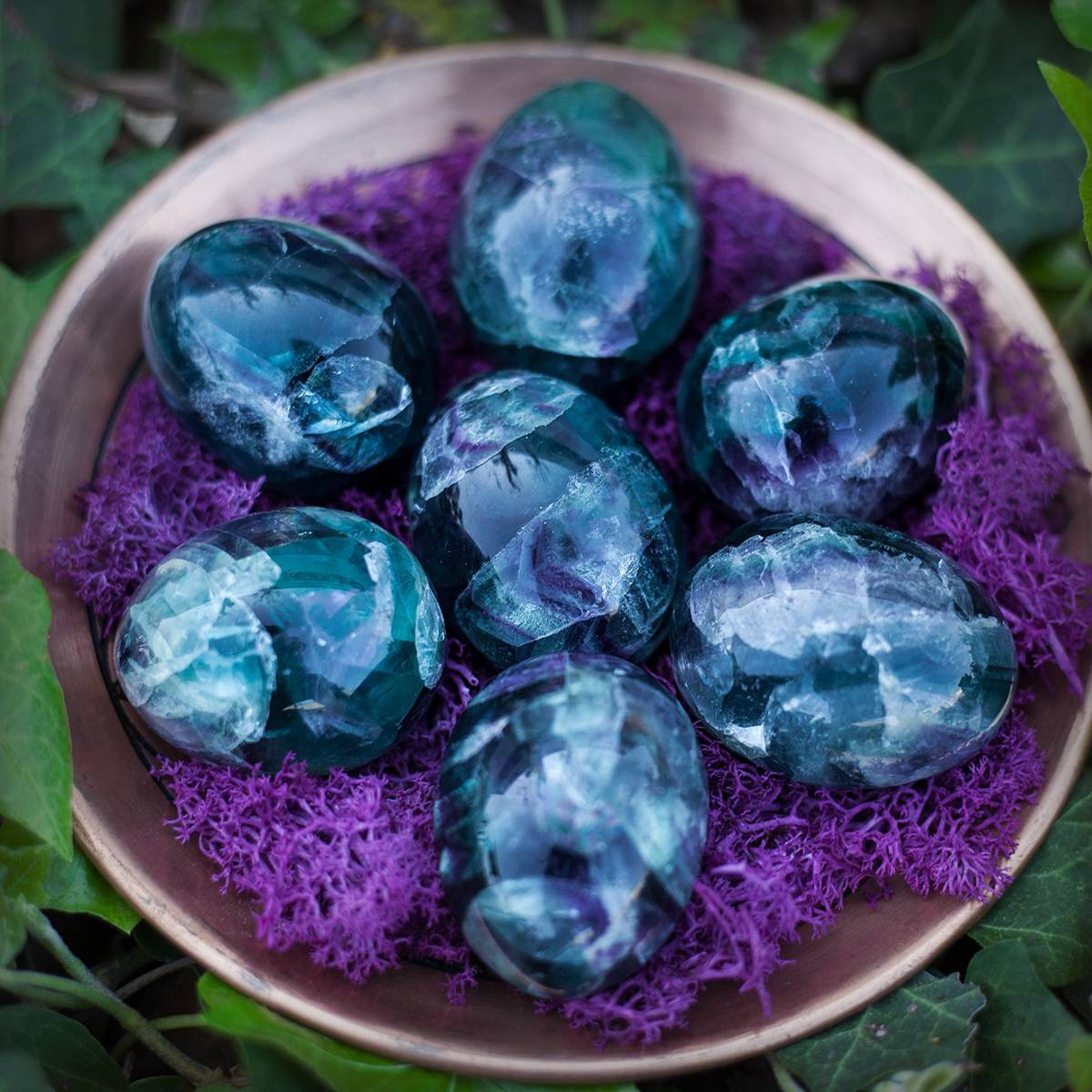 fluorite eggs for new beginnings and uncovering your highest purpose