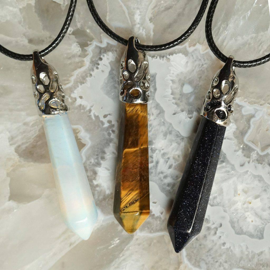 gemstone drop necklaces