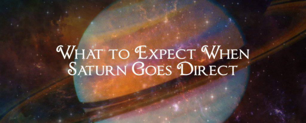 Saturn goes direct