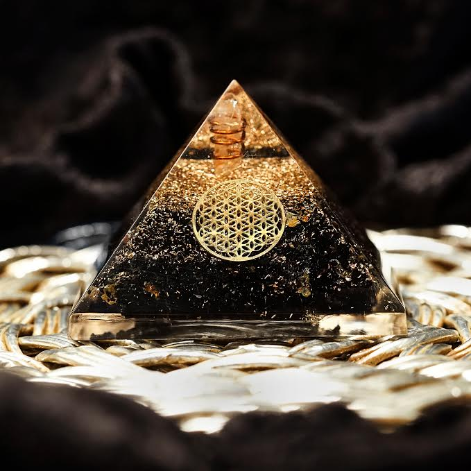 Black Tourmaline Orgonite Pyramids for protection and Life Force