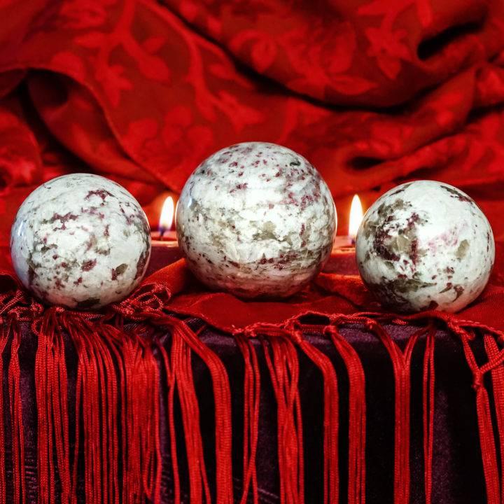 rubellite spheres