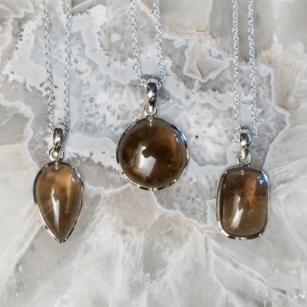 Smoky quartz pendants to absorb and transmute negativity smoky quartz pendants mozeypictures Image collections