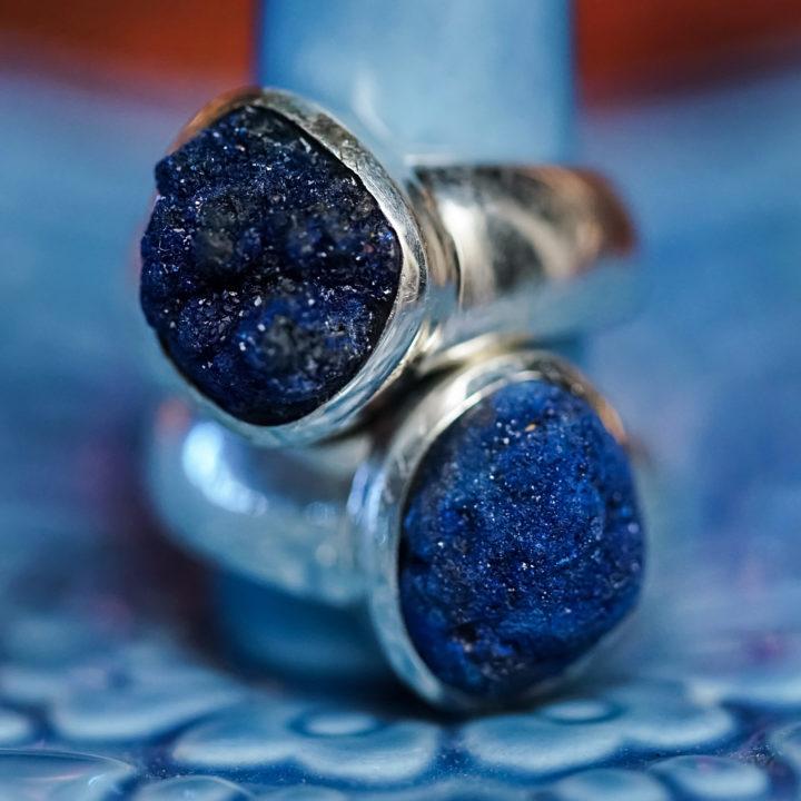azurite rings
