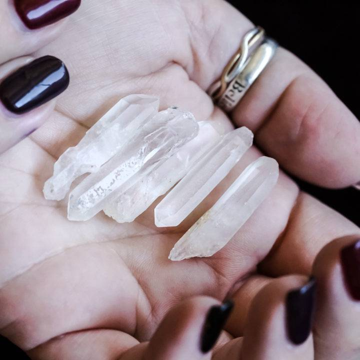 mini faerie quartz wands