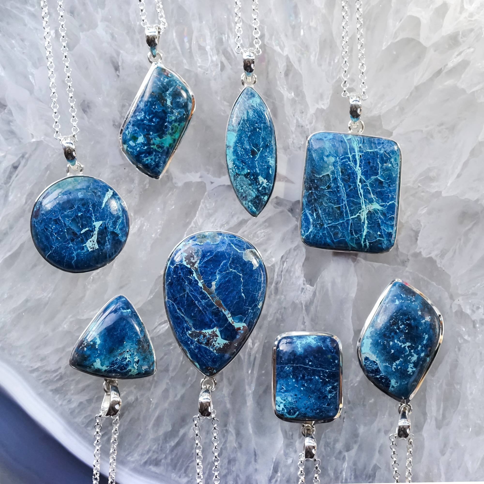 Shattuckite Mixed Shape Pendants