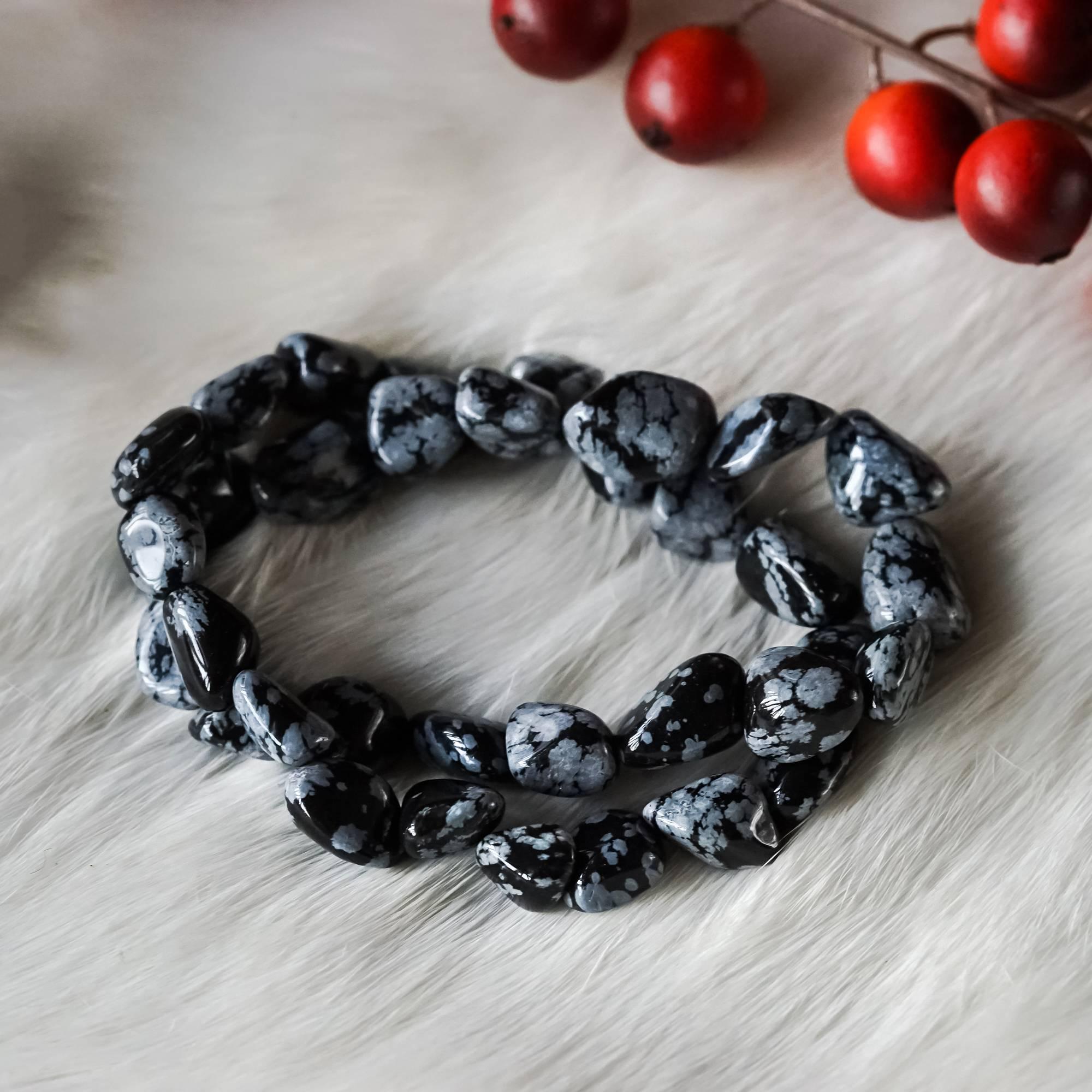 Snowflake Obsidian Bracelets For Revelation And Shadow Integration 22 00