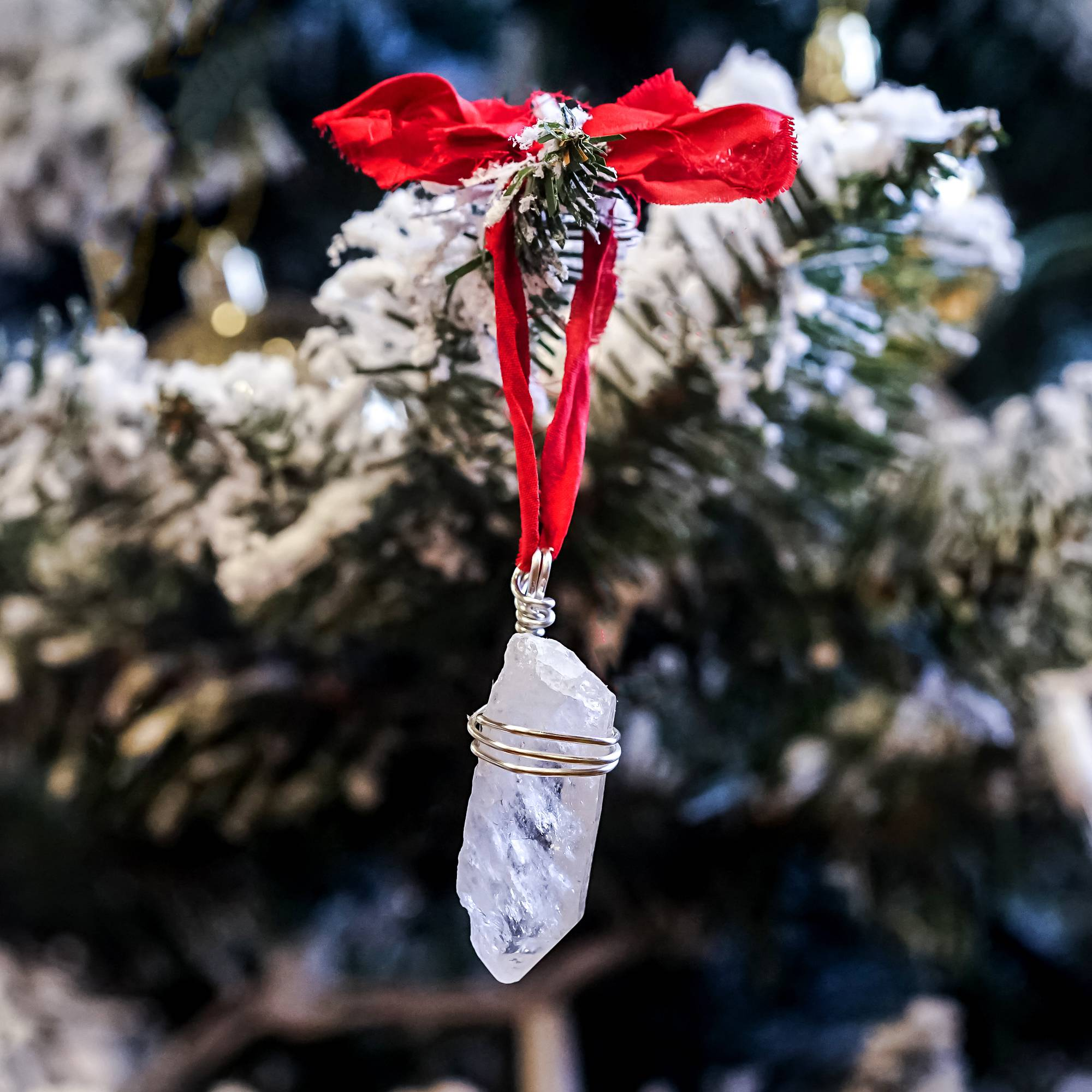 clear quartz point ornaments