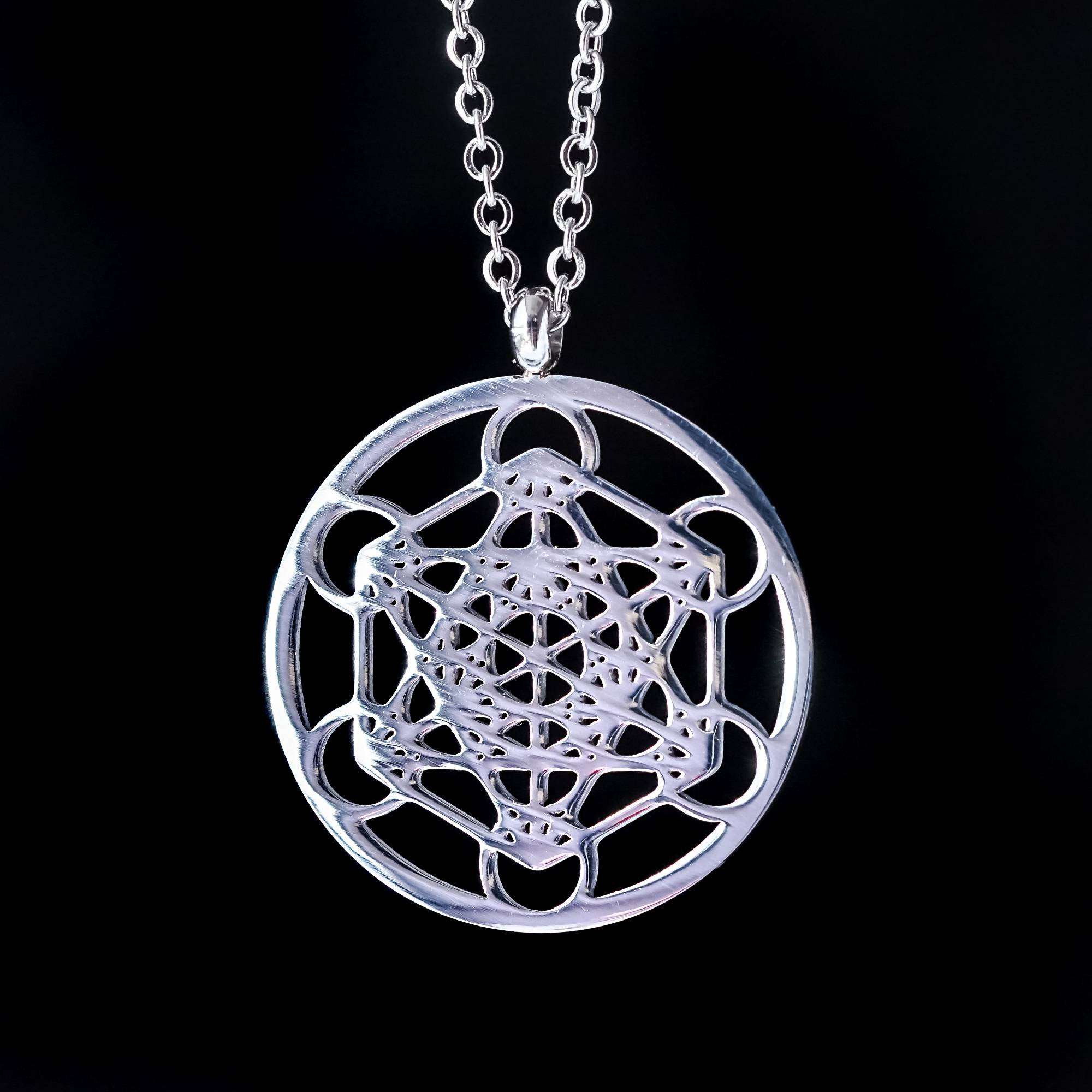 Metatrons cube necklace to connect with all sacred shapes metatrons cube necklace aloadofball Gallery