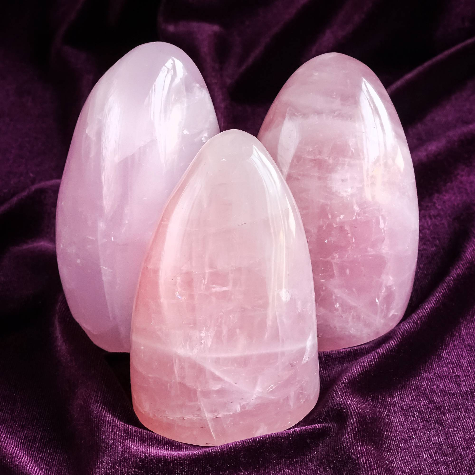 rose quartz pillars for an infusion of self love and heart healing