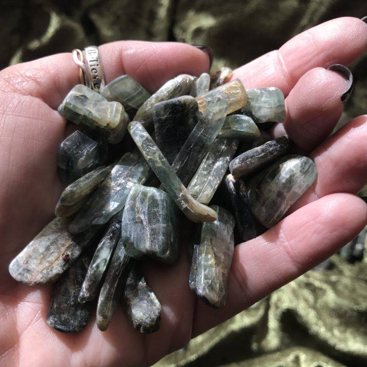 natural green kyanite