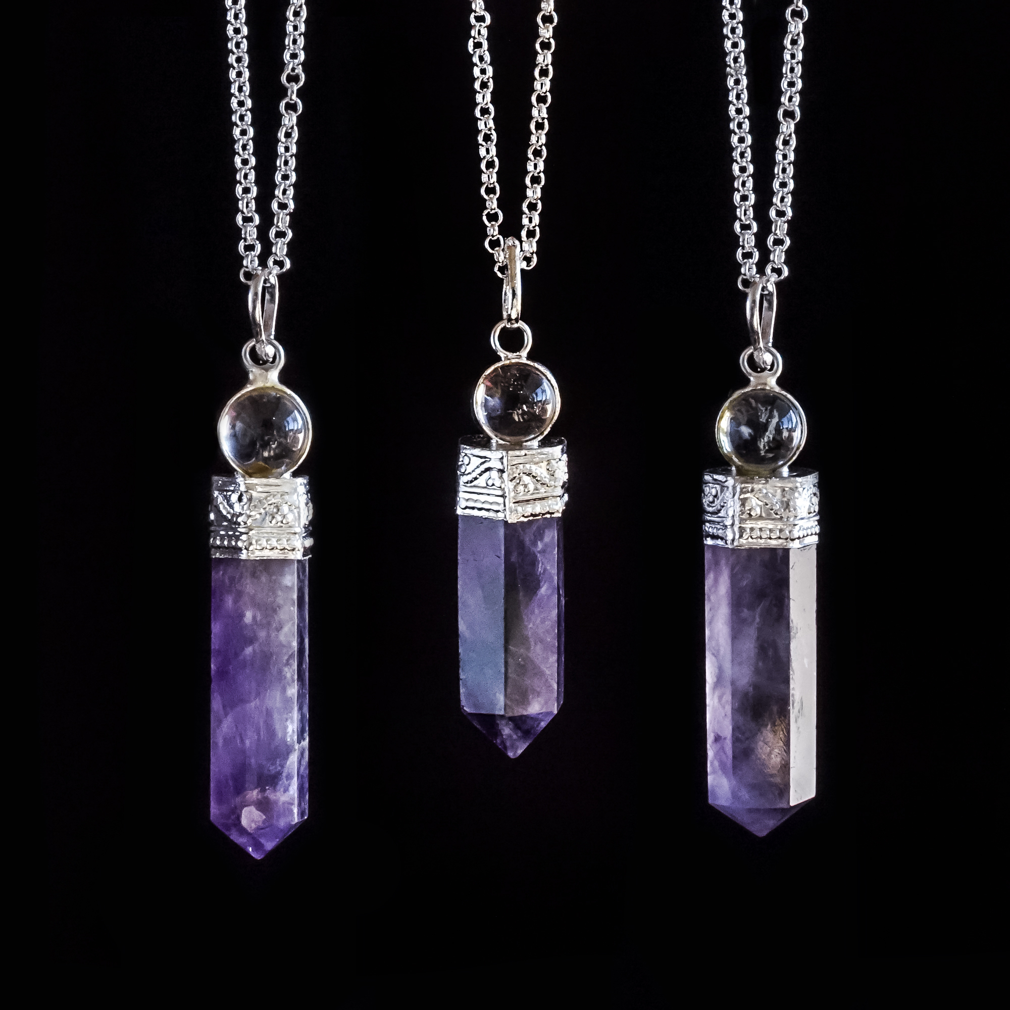Amethyst pendants for a peaceful gemstone companion aloadofball Gallery