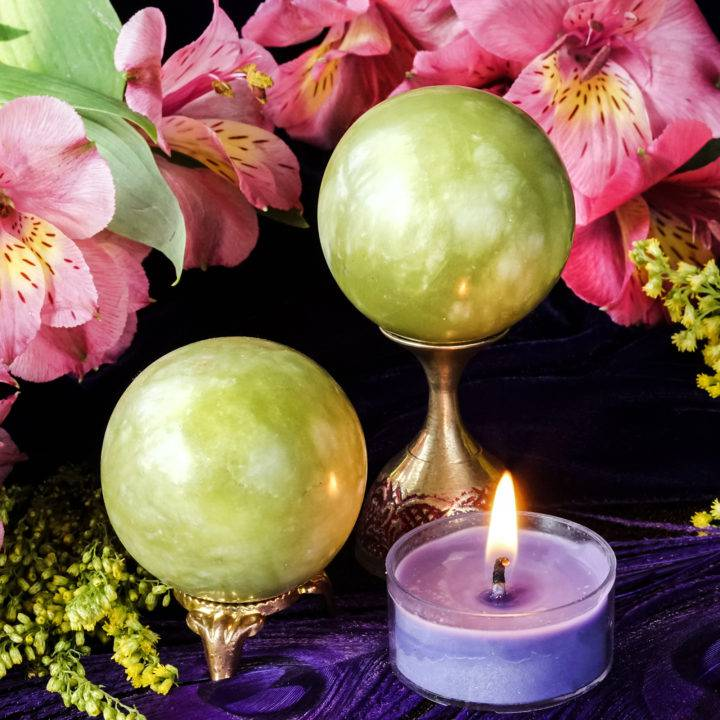 Anahata Jade Sphere