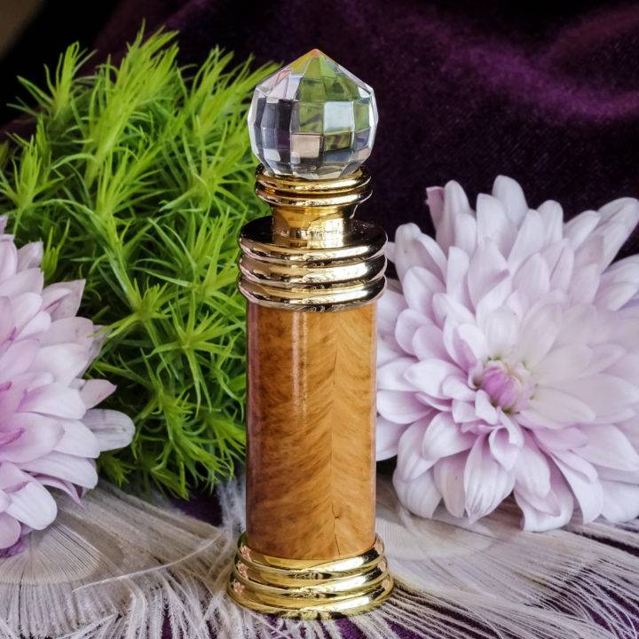marble perfume bottle with applicator