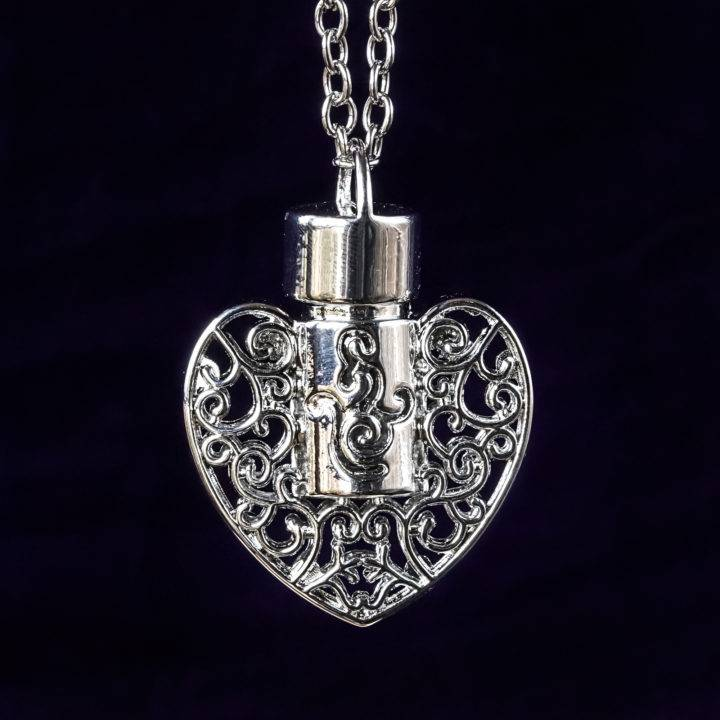 Perfume Heart Necklaces
