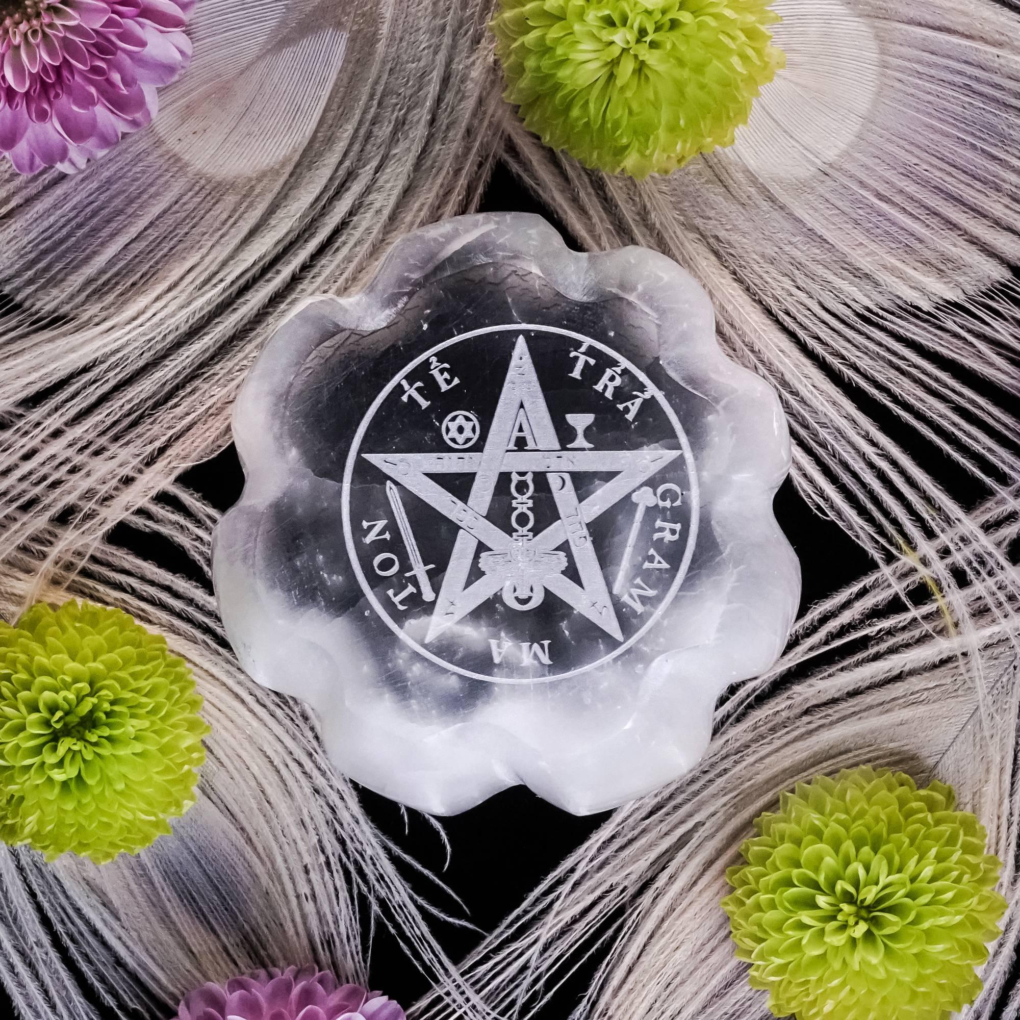 Tetragrammaton Selenite Discs