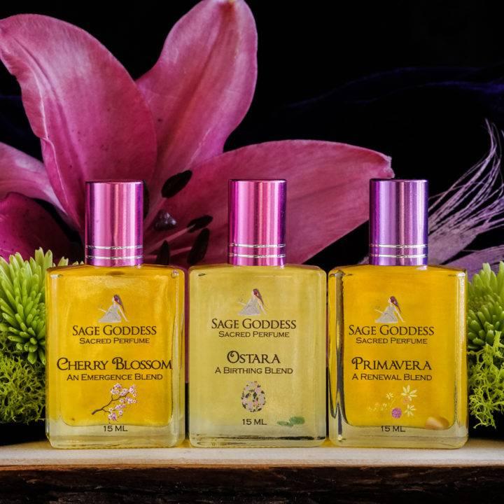 spring perfume trio