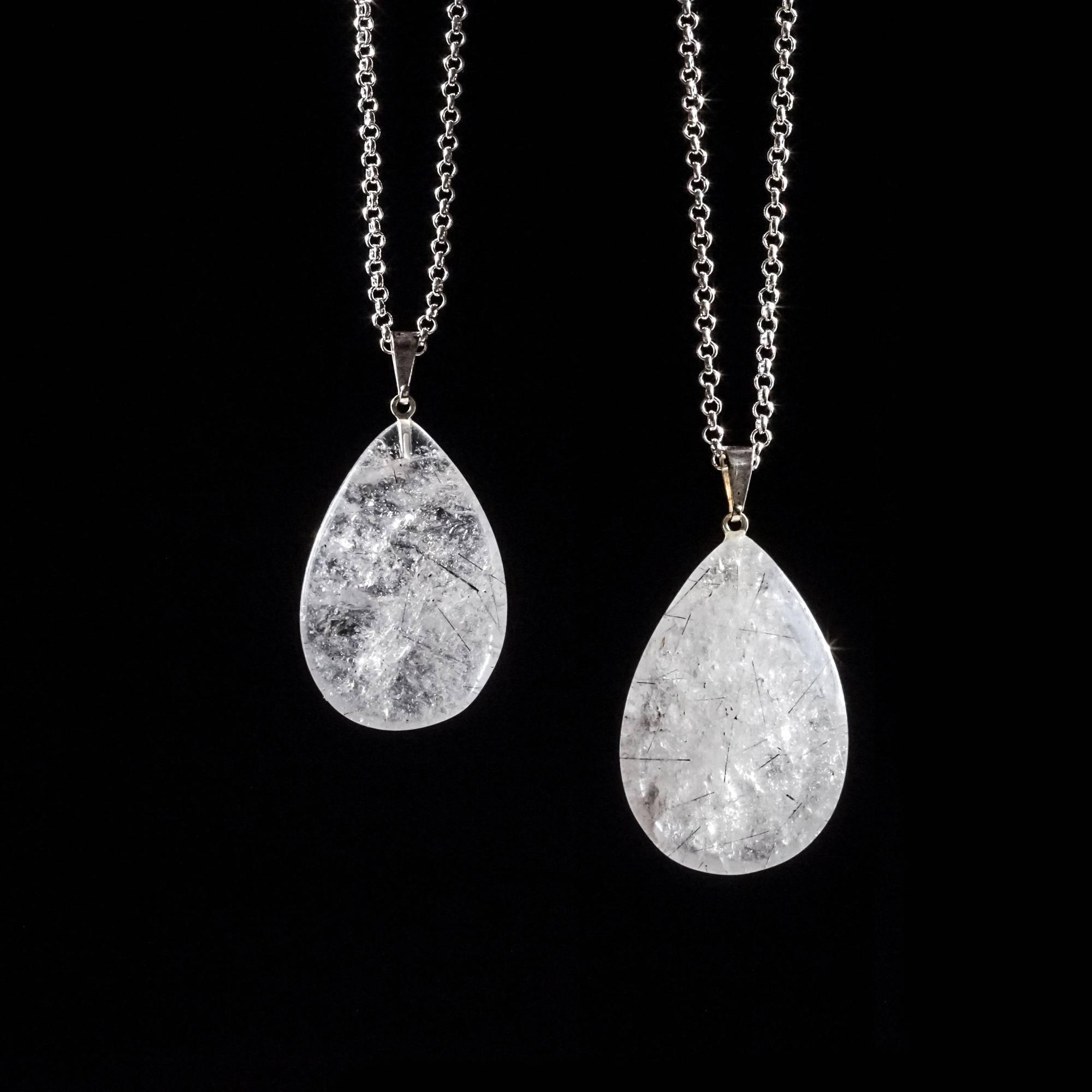 Tourmalinated quartz pendants to create a protective bubble of white tourmalinated quartz pendants to create a protective bubble of white light aloadofball Image collections