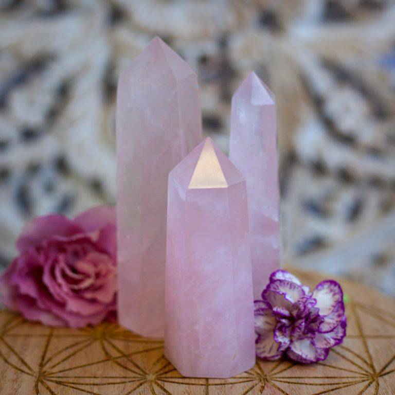 Rose Quartz Generators for drawing big love, romance, and relaxation energy