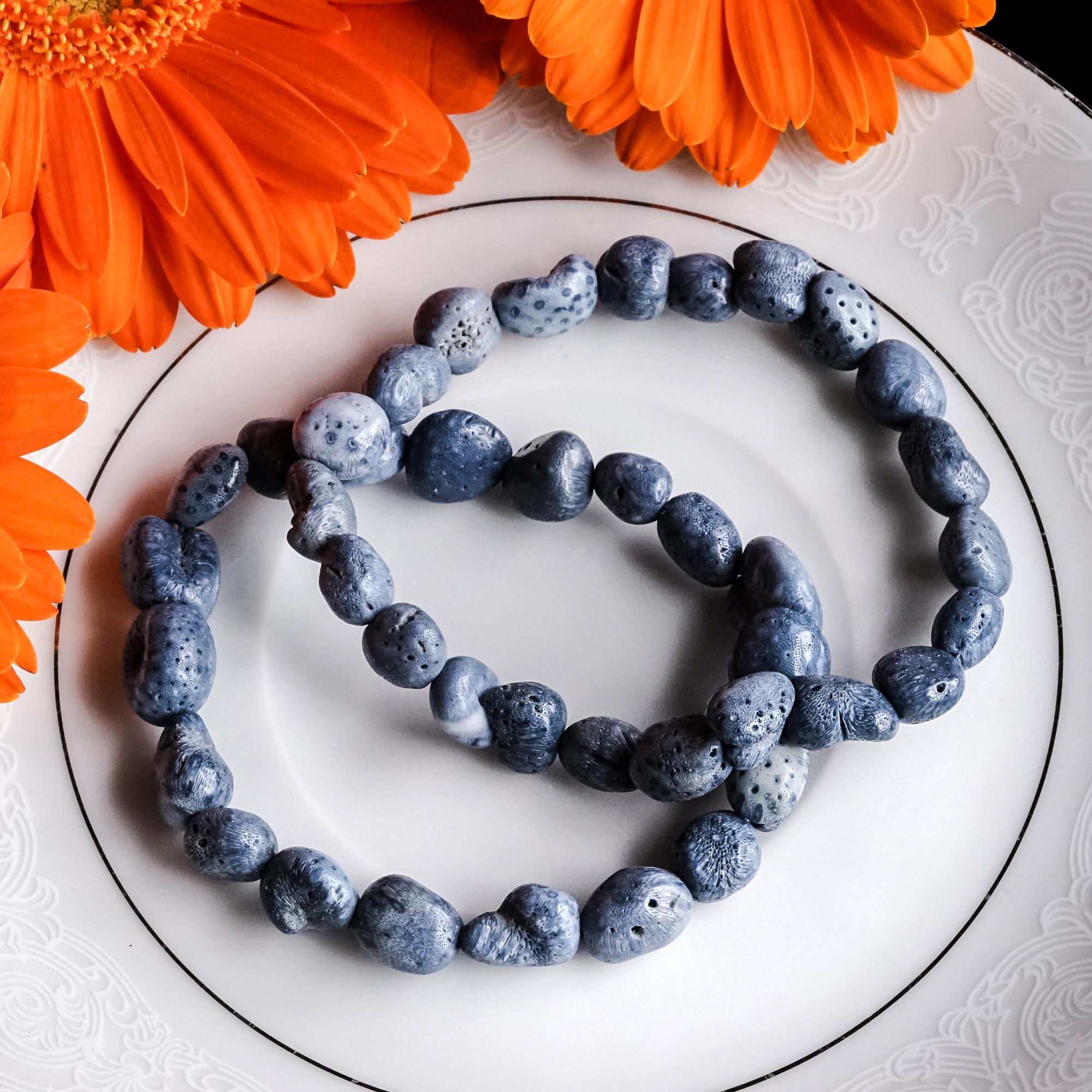 blue coral bracelets